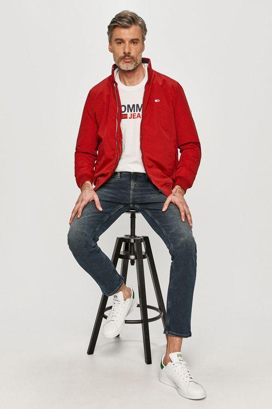 červená Tommy Jeans - Bunda Pánsky