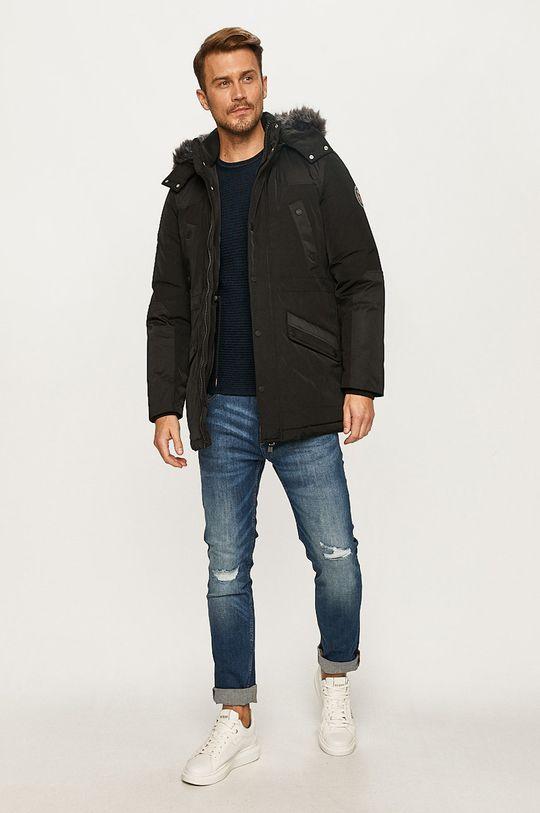 Guess Jeans - Geaca de puf negru