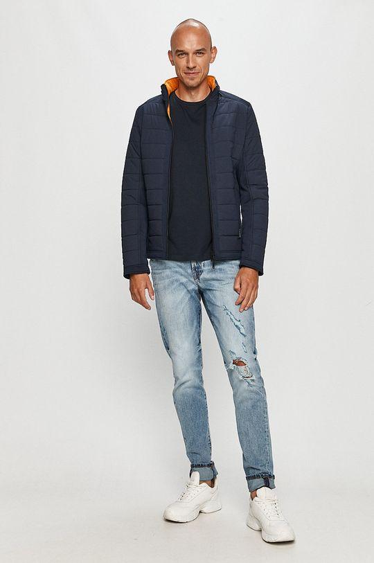 Guess Jeans - Kurtka dwustronna Materiał 1: 100 % Poliuretan, Materiał 2: 25 % Elastan, 75 % Poliamid, Materiał 3: 10 % Elastan, 90 % Poliester