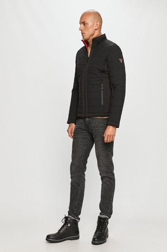 Guess Jeans - Oboustranná bunda  Materiál č. 1: 100% Polyuretan Materiál č. 2: 25% Elastan, 75% Polyamid Materiál č. 3: 10% Elastan, 90% Polyester