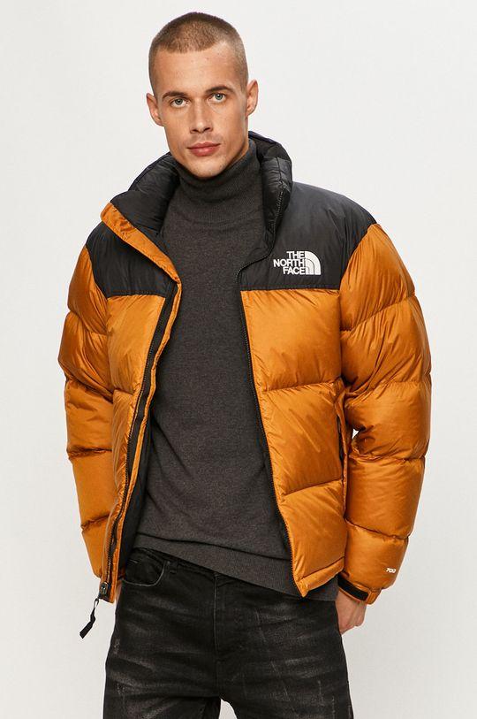zlatohnedá The North Face - Páperová bunda Pánsky