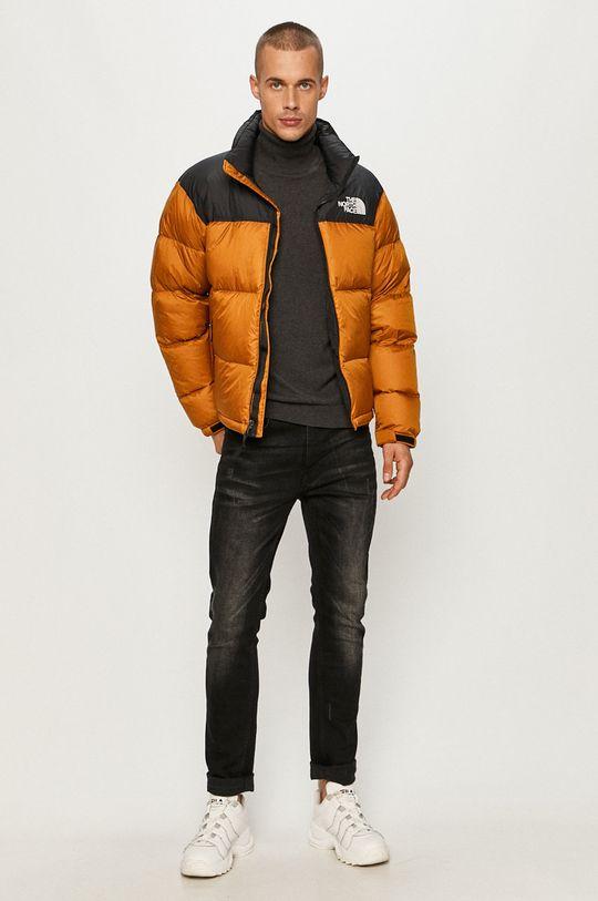 The North Face - Páperová bunda zlatohnedá