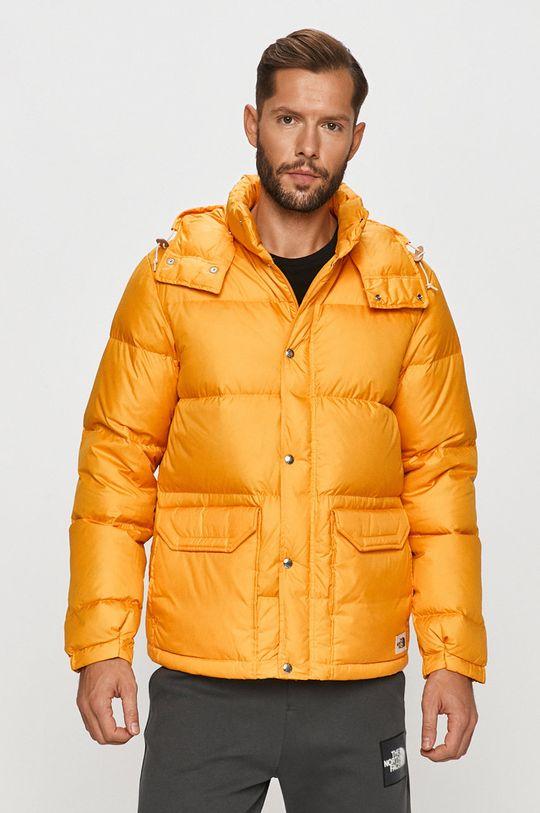 oranžová The North Face - Péřová bunda Pánský
