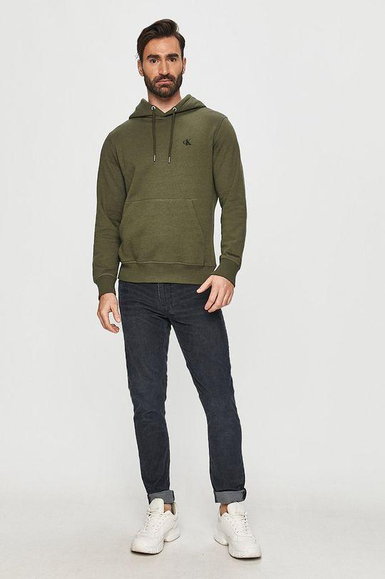 Calvin Klein Jeans - Bluza oliwkowy
