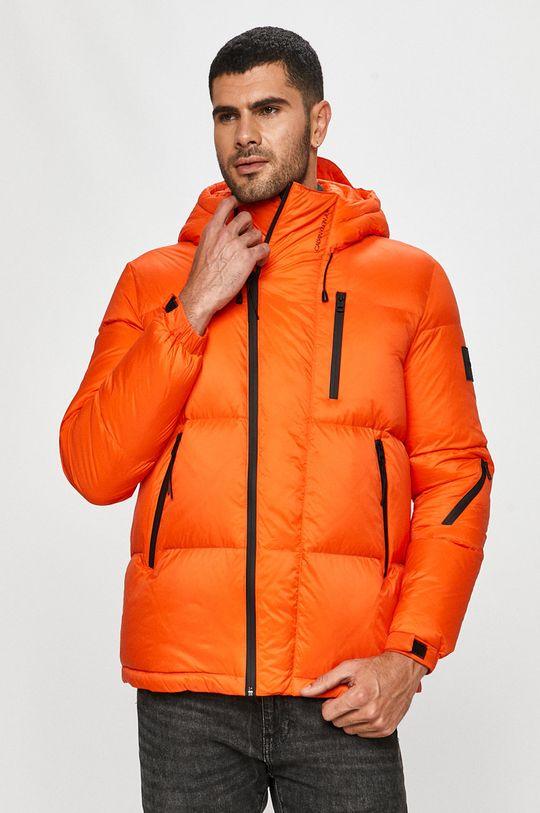 oranžová Calvin Klein Jeans - Péřová bunda Pánský