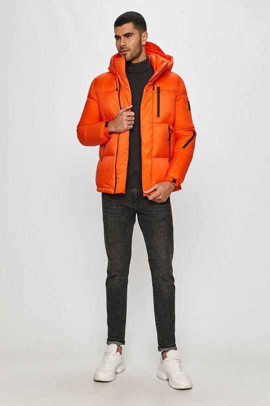 Calvin Klein Jeans - Péřová bunda oranžová