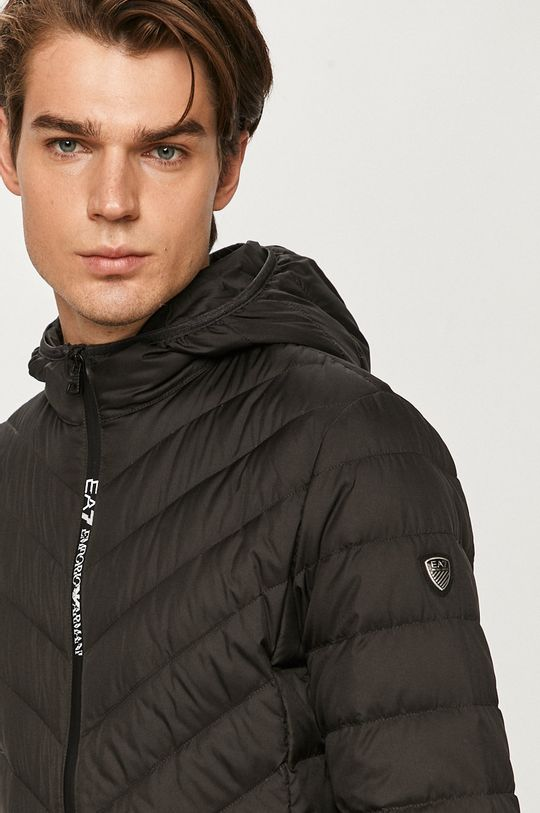 čierna EA7 Emporio Armani - Páperová bunda