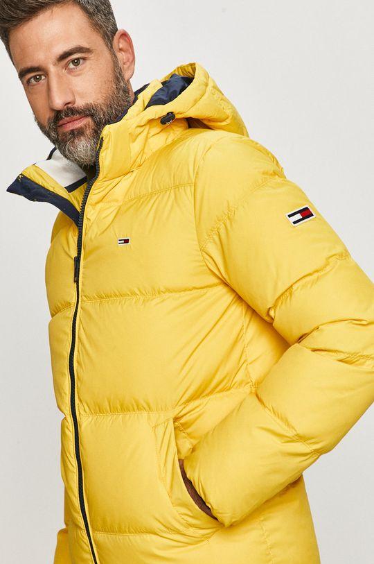 žltá Tommy Jeans - Páperová bunda Pánsky