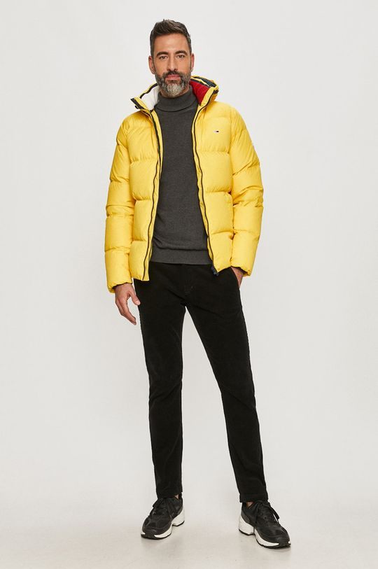 Tommy Jeans - Páperová bunda žltá