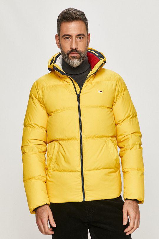 žltá Tommy Jeans - Páperová bunda