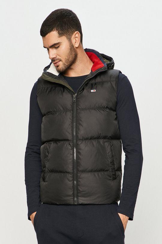 čierna Tommy Jeans - Páperová vesta Pánsky