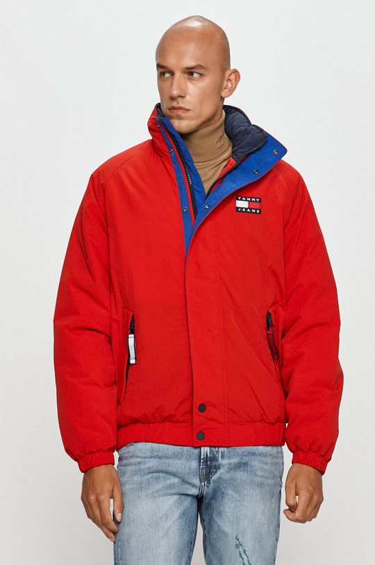 czerwony Tommy Jeans - Kurtka Męski