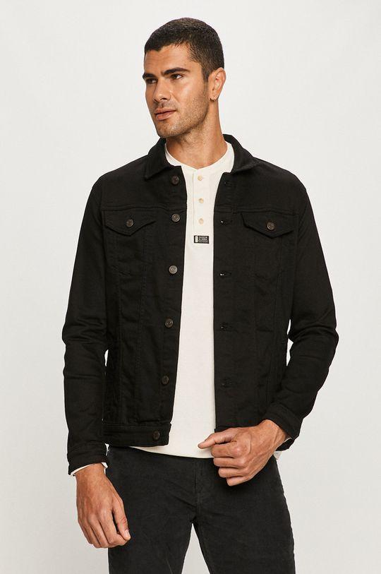 negru Selected - Geaca jeans De bărbați