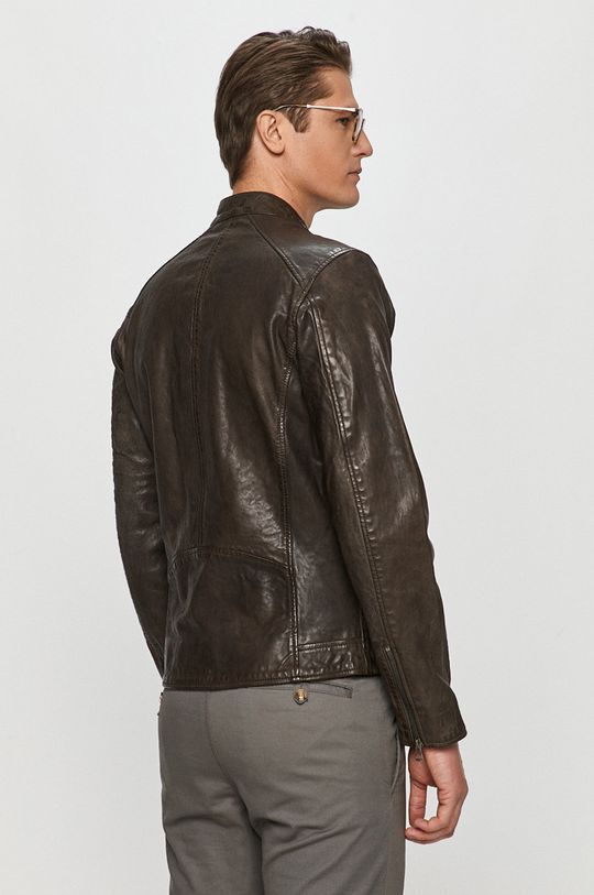 Pepe Jeans - Geaca de piele Fossee  Captuseala: 100% Poliester  Materialul de baza: 100% Piele naturala