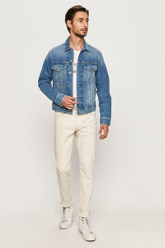 Pepe Jeans - Kurtka jeansowa Pinner niebieski