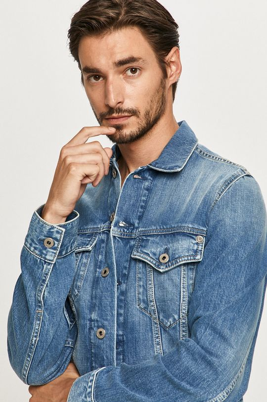 niebieski Pepe Jeans - Kurtka jeansowa Pinner