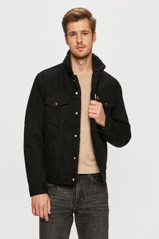 czarny Levi's - Kurtka jeansowa Męski