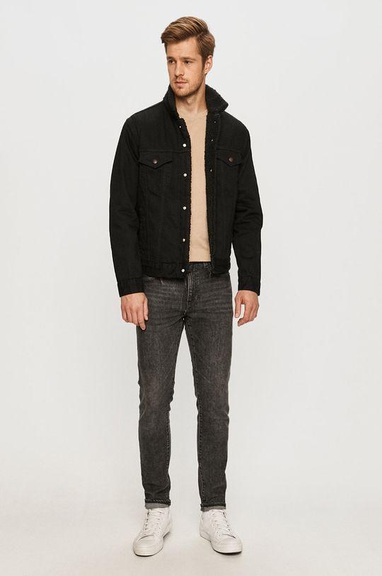 Levi's - Kurtka jeansowa czarny