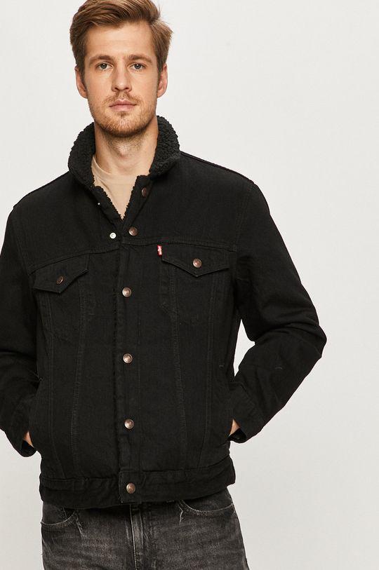 czarny Levi's - Kurtka jeansowa