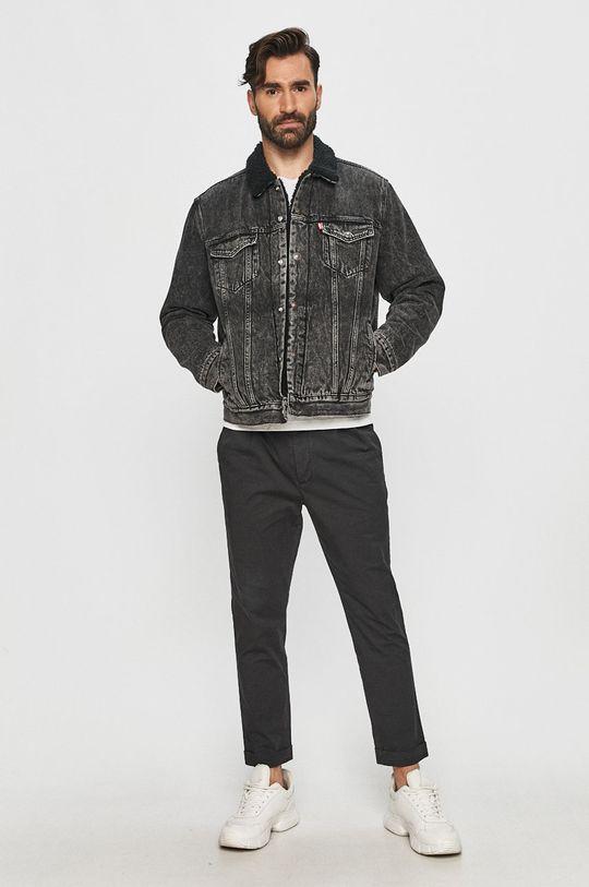 Levi's - Džínová bunda černá