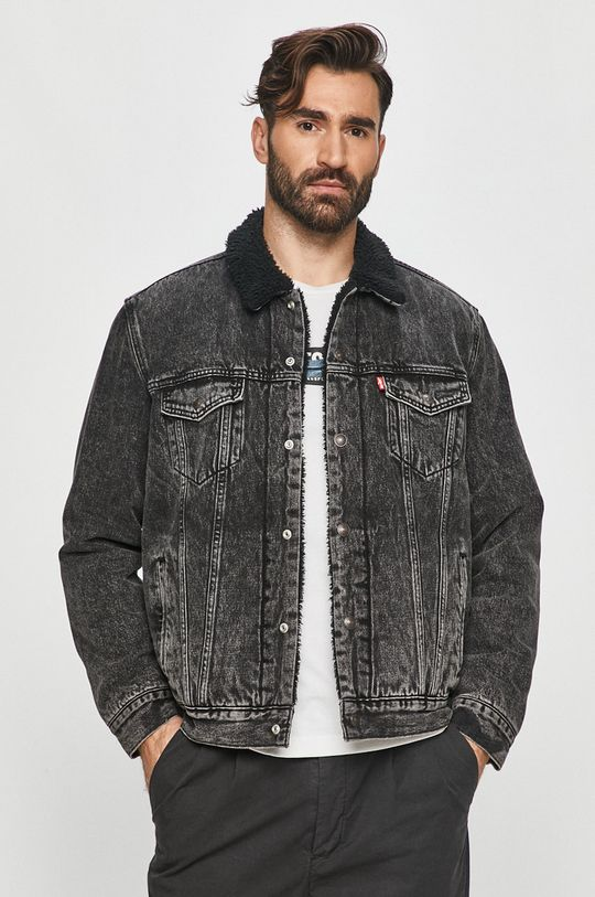 černá Levi's - Džínová bunda