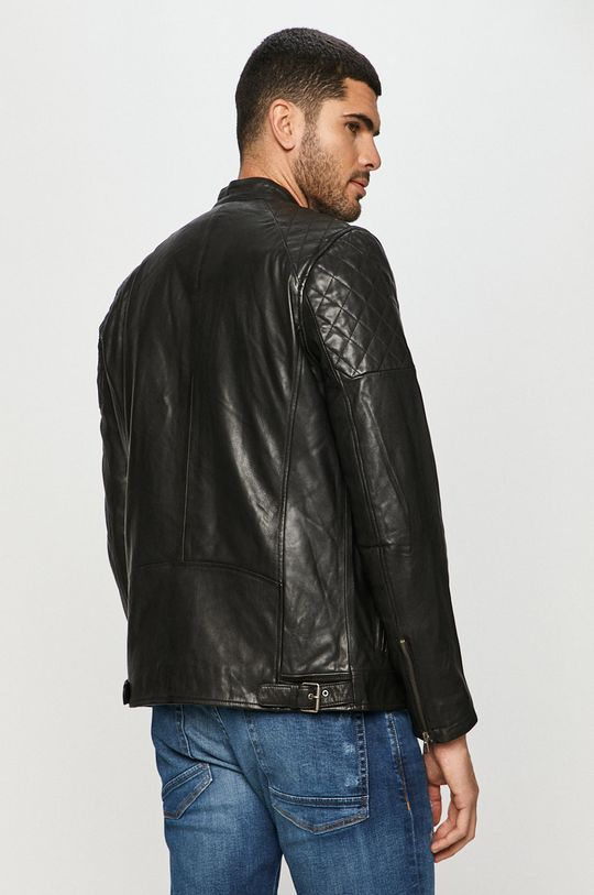 Pepe Jeans - Kožená bunda Defoe  Podšívka: 100% Bavlna Výplň: 100% Polyester Základná látka: 100% Prírodná koža
