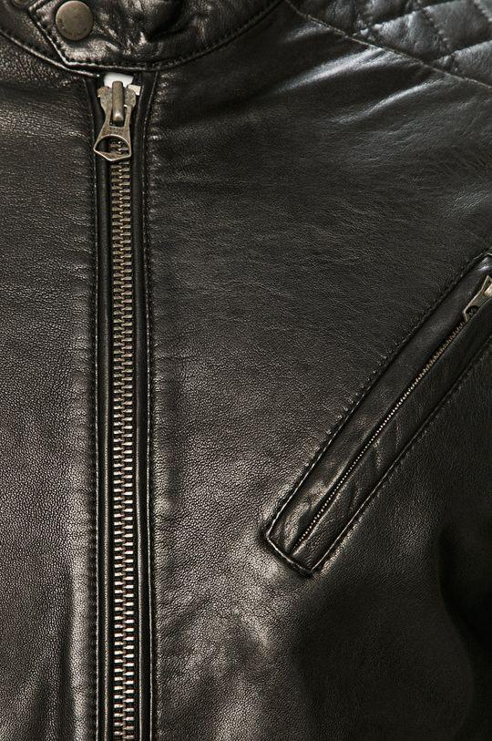 Pepe Jeans - Kožená bunda Defoe Pánsky