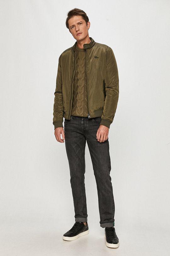 Pepe Jeans - Bomber bunda Bates tlumená zelená