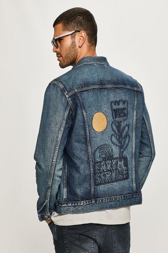 modrá Levi's - Rifľová bunda Pánsky
