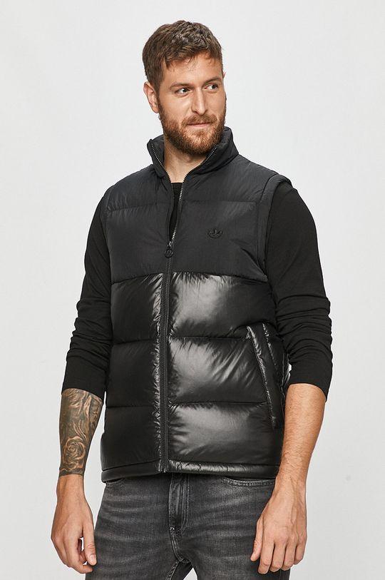 černá adidas Originals - Péřová vesta Pánský