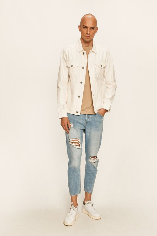 Produkt by Jack & Jones - Geaca jeans alb