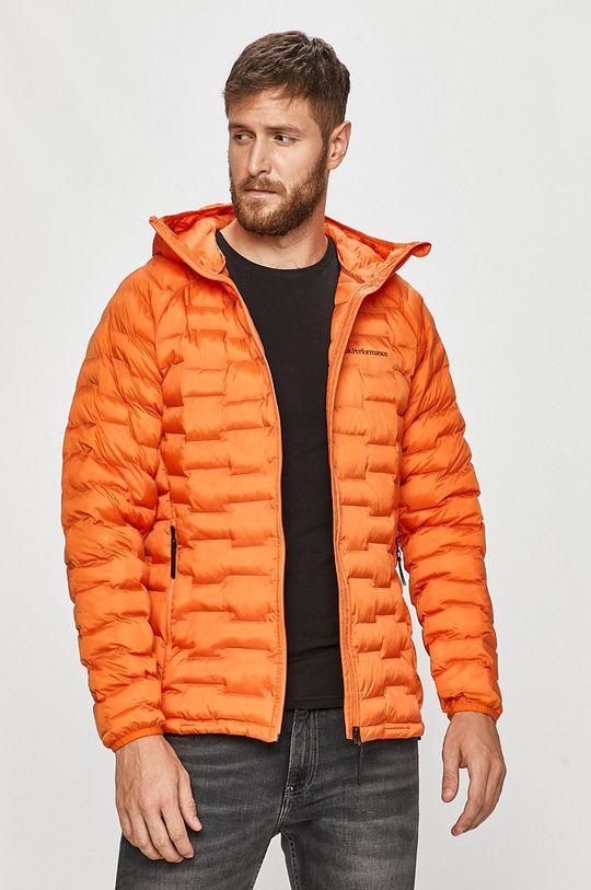 oranžová Peak Performance - Bunda Pánský