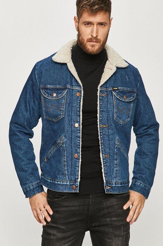niebieski Wrangler - Kurtka jeansowa Męski