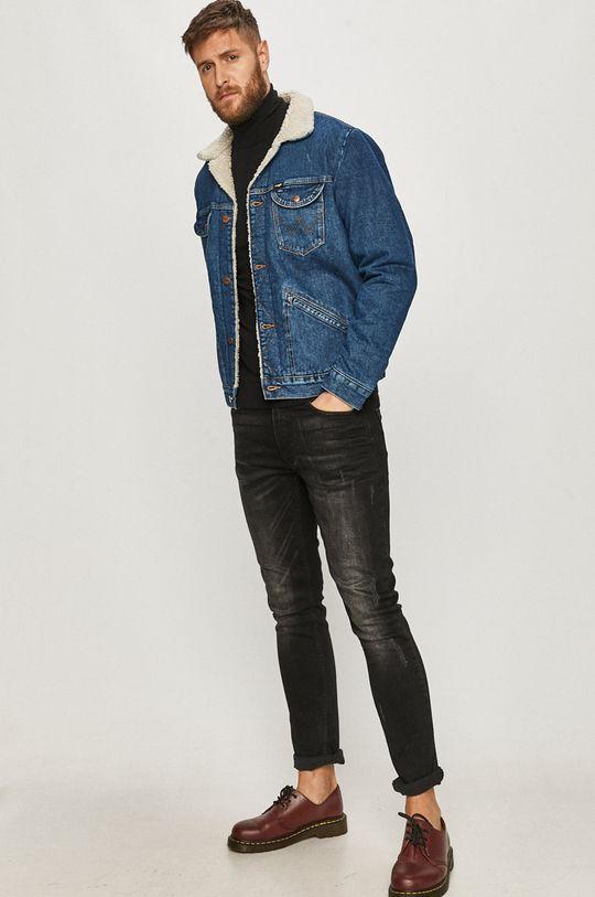 Wrangler - Kurtka jeansowa niebieski
