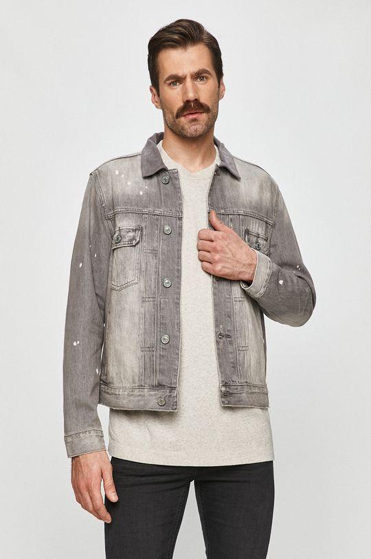 szary AllSaints - Kurtka jeansowa Męski