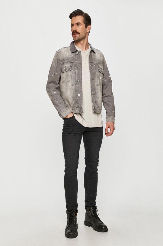 AllSaints - Kurtka jeansowa szary