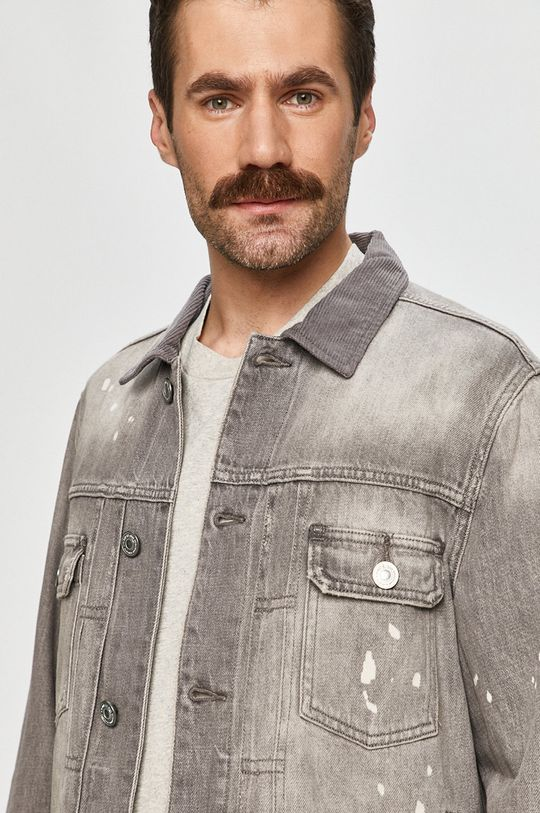 szary AllSaints - Kurtka jeansowa