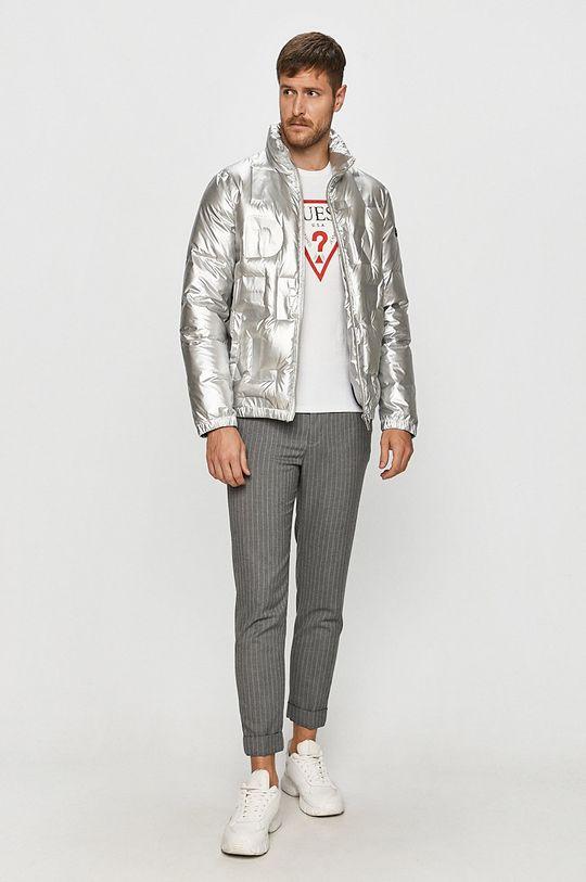 Karl Lagerfeld - Péřová bunda stříbrná