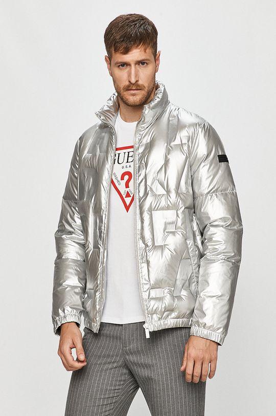 stříbrná Karl Lagerfeld - Péřová bunda