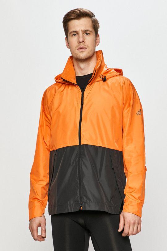 oranžová adidas Performance - Bunda Pánský