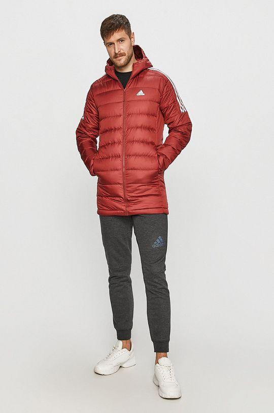 adidas Performance - Kurtka puchowa ostry czerwony