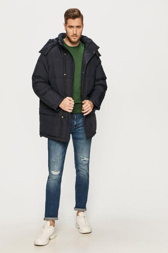 Lacoste - Páperová bunda tmavomodrá