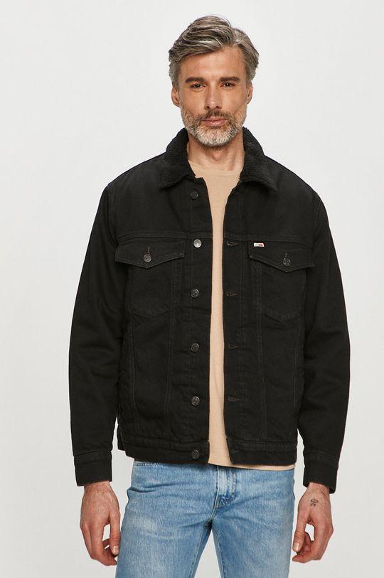černá Tommy Jeans - Džínová bunda Pánský