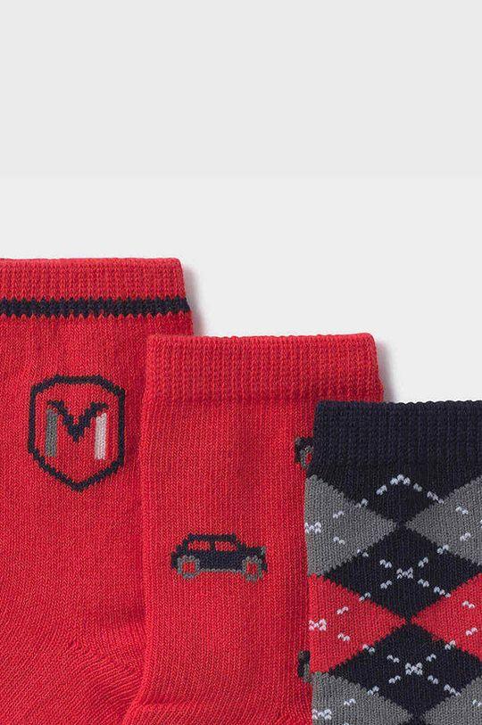 Mayoral Newborn - Detské ponožky (3-pak) červená
