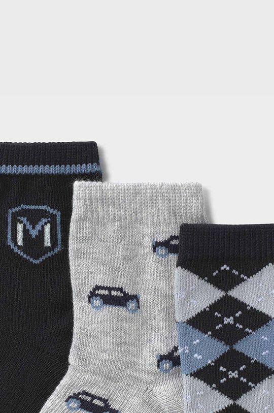 Mayoral Newborn - Detské ponožky (3-pak) tmavomodrá
