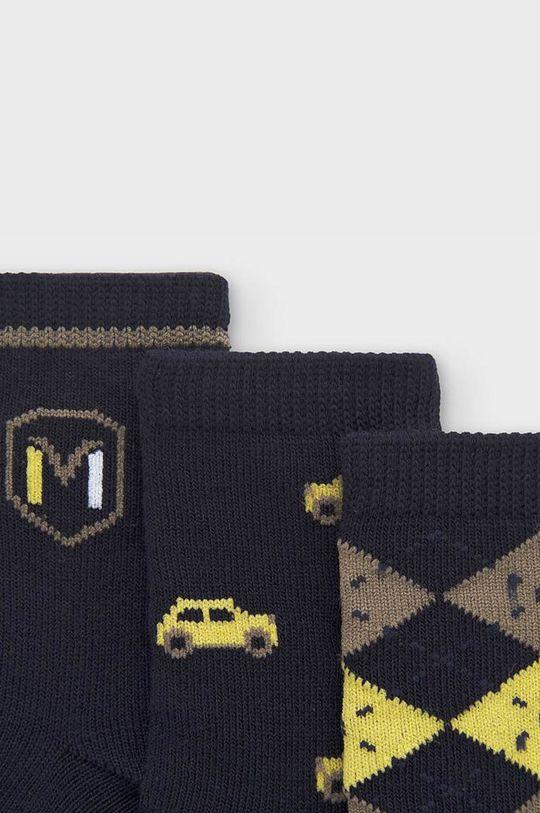 Mayoral Newborn - Detské ponožky (3-pak) olivová