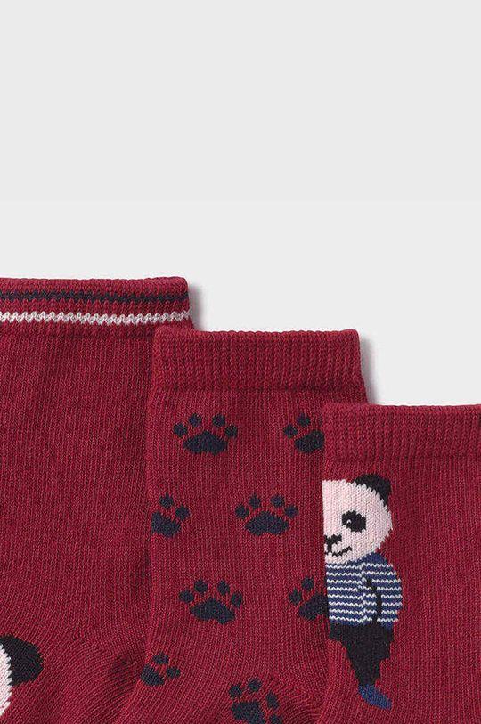 Mayoral Newborn - Detské ponožky (3-pak) gaštanová