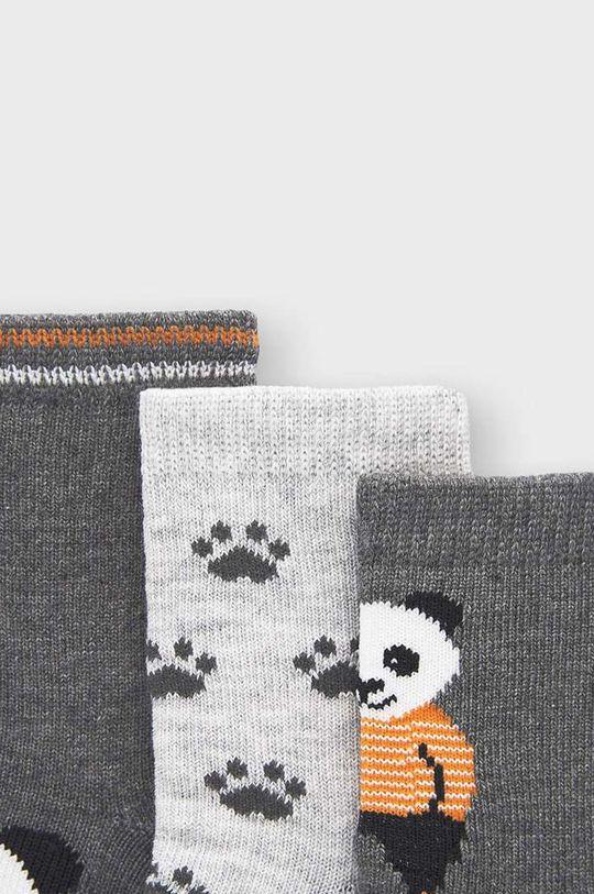 Mayoral Newborn - Detské ponožky (3-pak) sivá