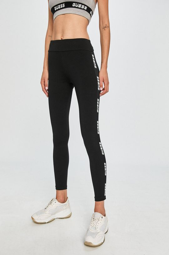 czarny Guess Jeans - Legginsy Damski
