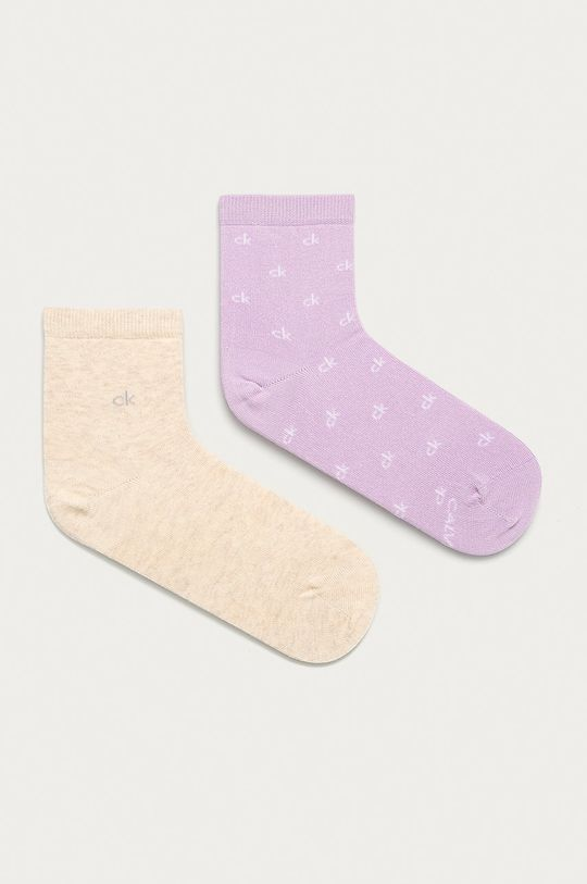 levandulová Calvin Klein - Kotníkové ponožky (2-pack) Dámský